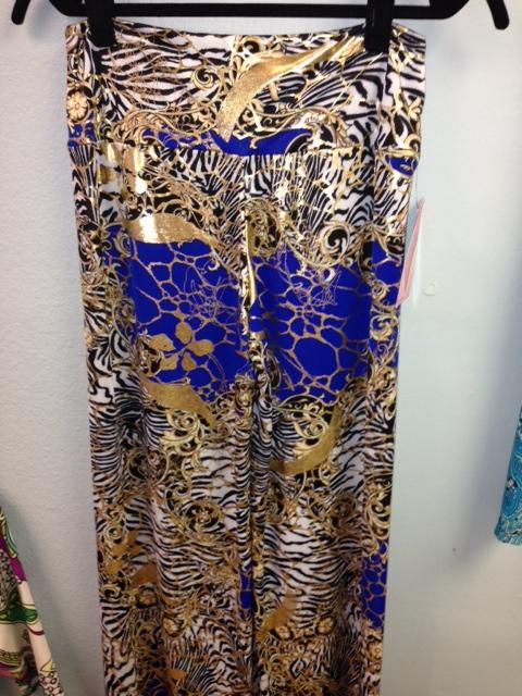 Gold pattern pants